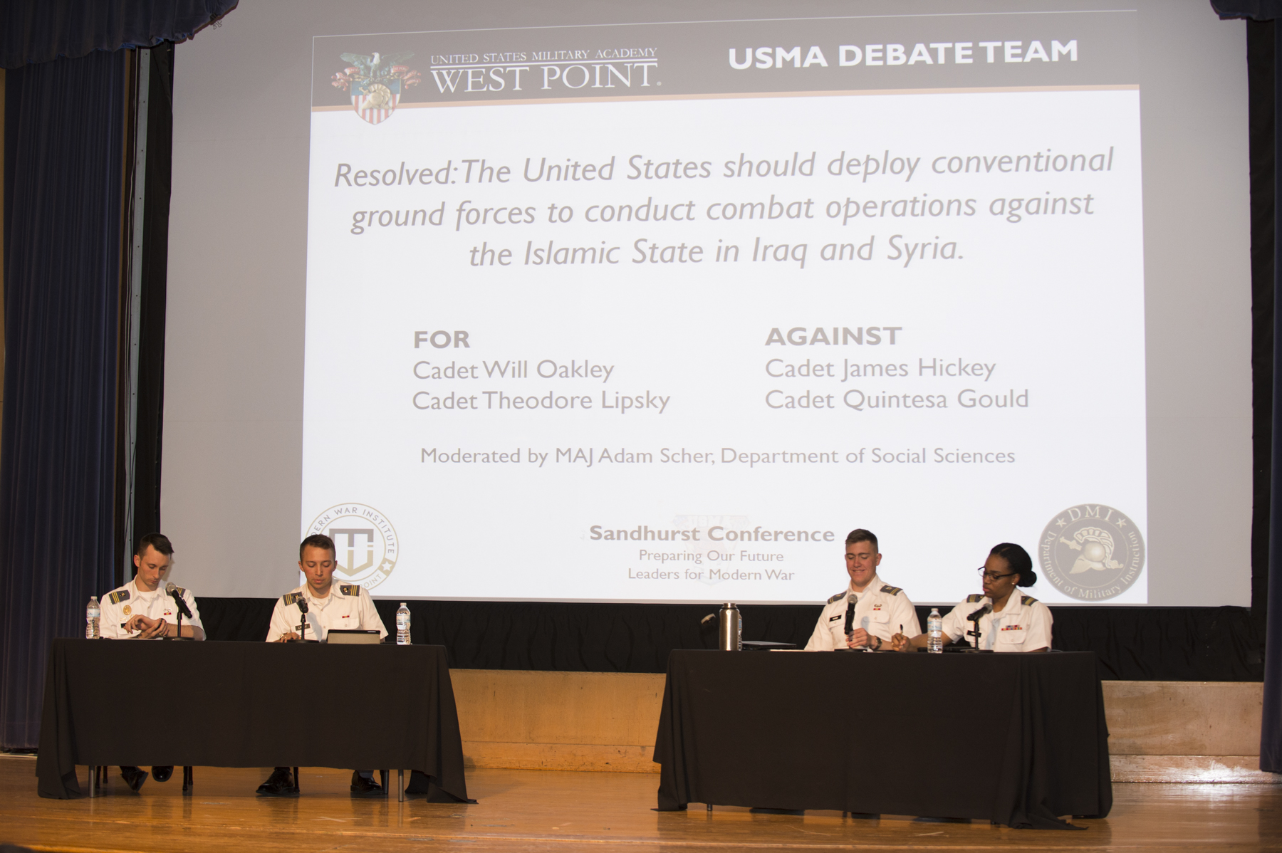 USMA Cadets Debate 'A Strategy to Combat ISIS'