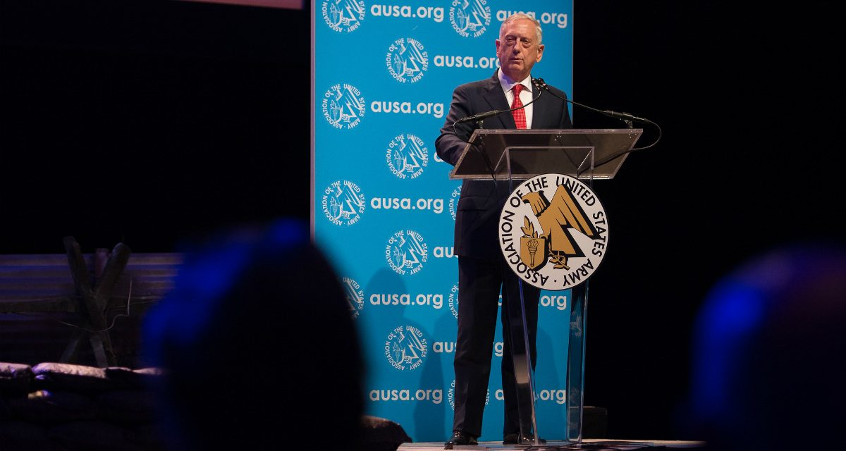 Secretary Mattis at AUSA: The Threats the US Military Must be Prepared For