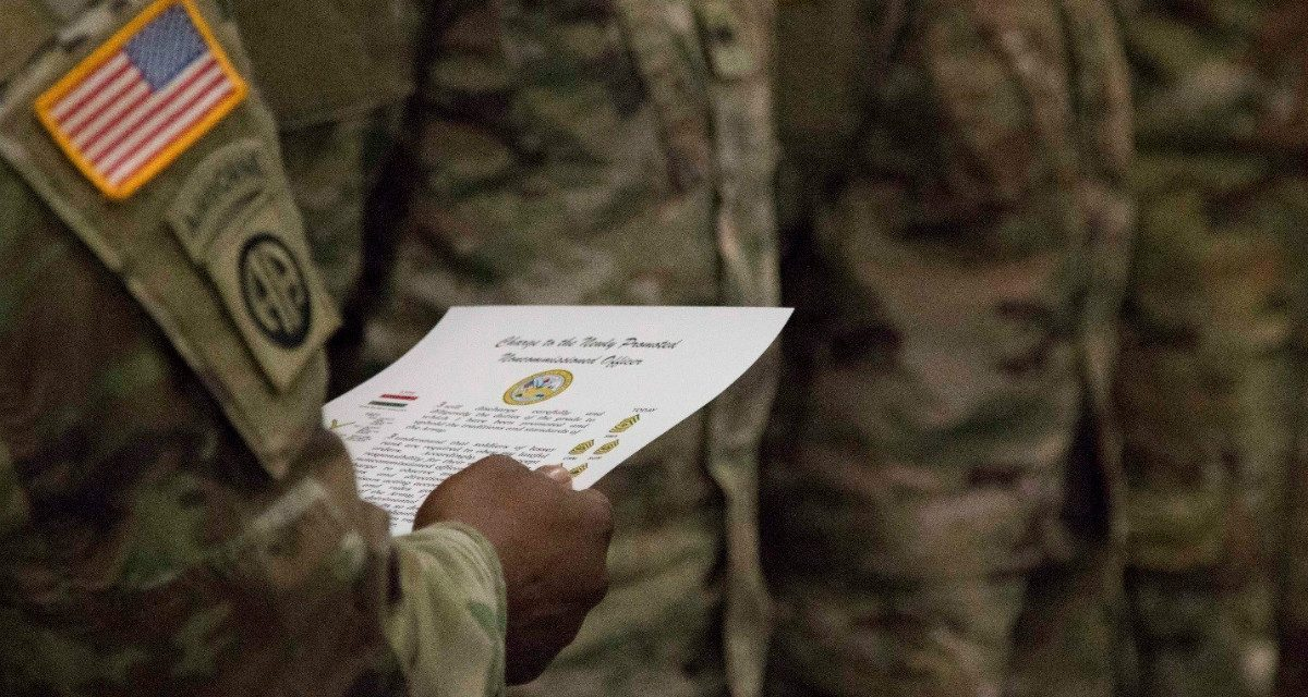 The Army Doesn't Effectively Mentor Noncommissioned Officers. It Needs to Start.
